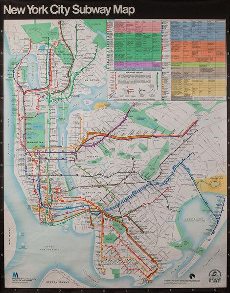 [[New York]] City Subway Map Original Vintage Subway Map Poster