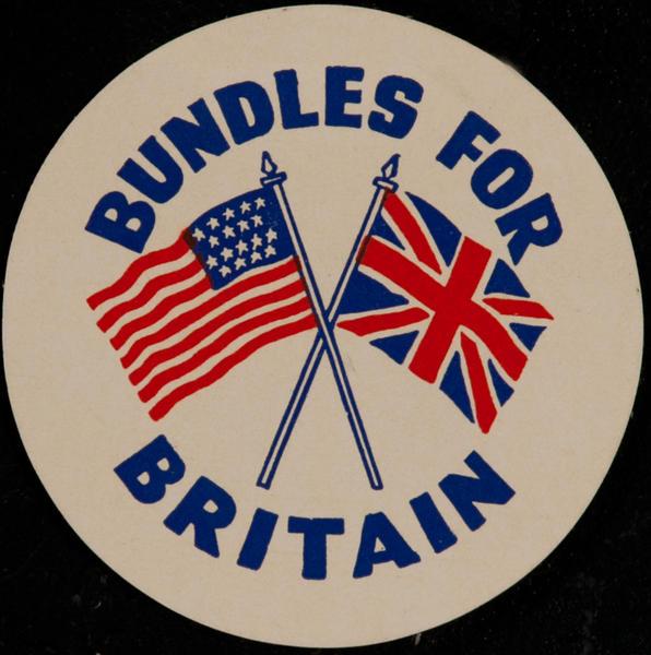 Bundles for Britain,  Original WWII Label