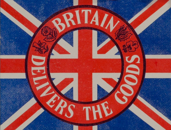 Britain Delivers the Goods Original WWII Label