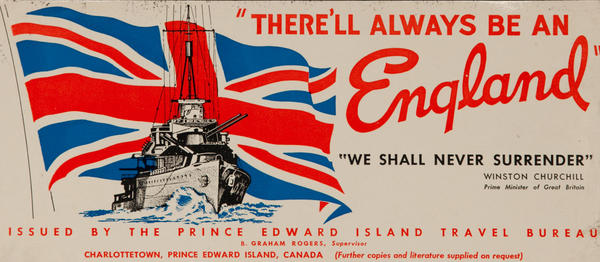 There'll Always be an England, , Prince Edward Island Travel Bureau, Canadian WWII Label
