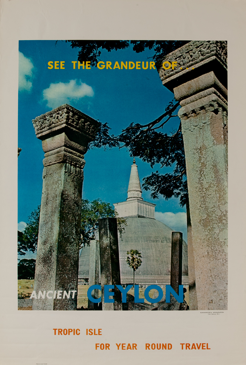 See the Grandeur of Ancient Ceylon (Sri Lanka) Travel Poster,