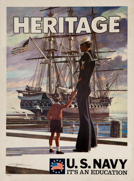 Heritage U.S. Navy It's an Education, Vietnam WarRecruiting Poster