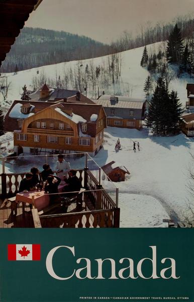 Canada Travel Poster. Apres Ski