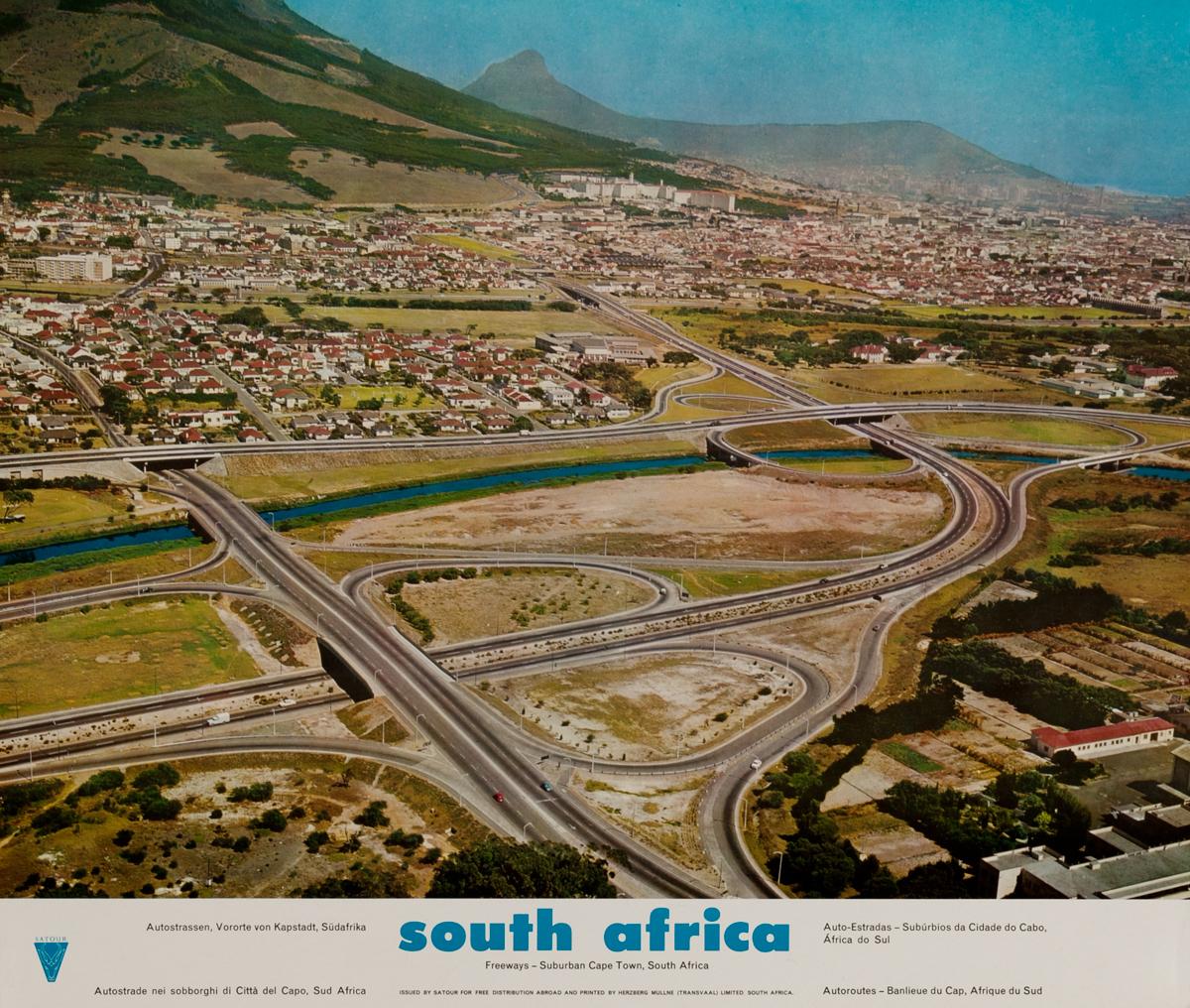 South Africa, Freeways - Suburban Cape Town