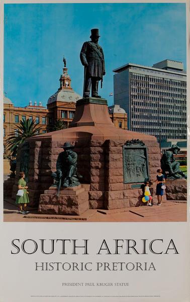 South Africa Historic Pretoria, President Paul Kruger Statue