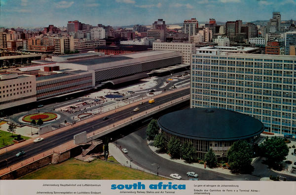 South Africa Johannesburg Railway Station and Air Terminal