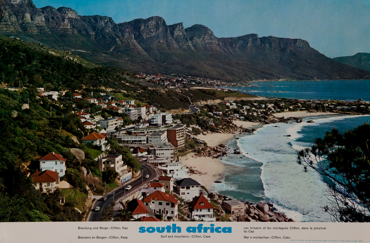 South Africa Surf and mountClifton Capeains -
