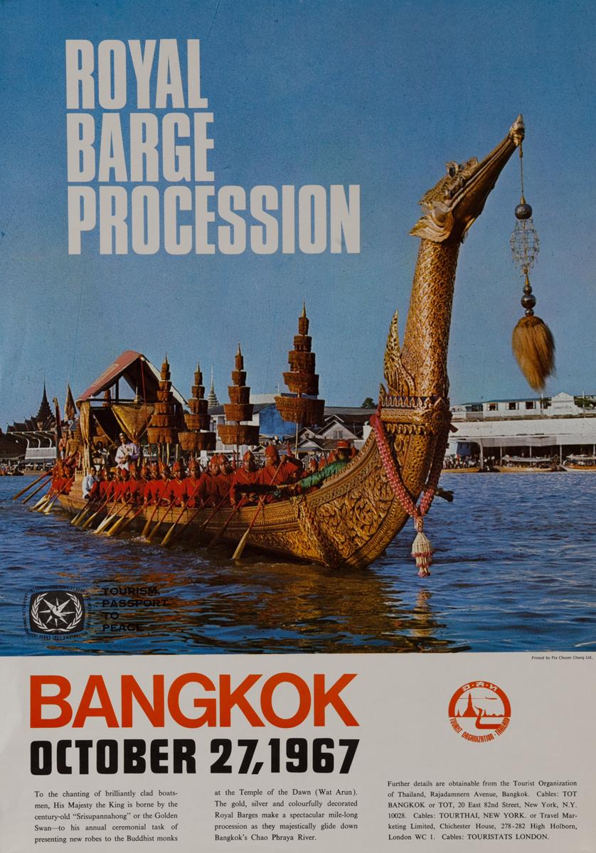 Royal Barge Procession, Bangkok Thailand