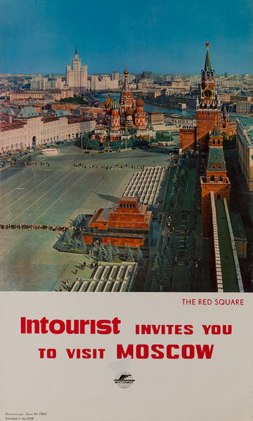 Intourist invites you to Moscow, Red Square<br>Lenin's Tomb