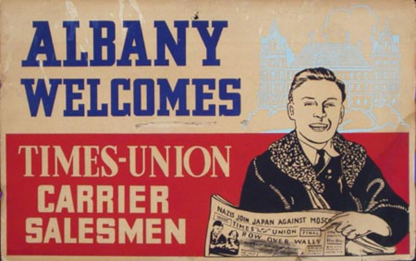 Albany Times Union Original Vintage Advertising Poster