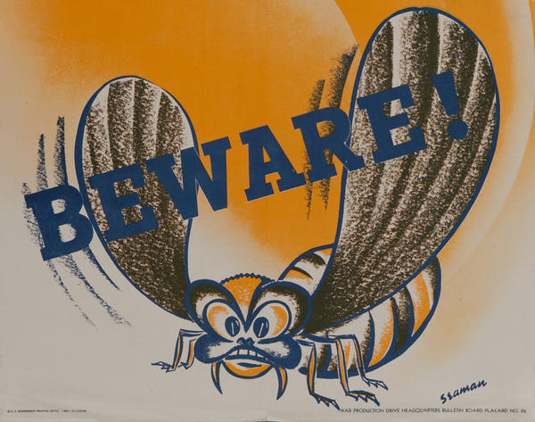 Beware, WWII Production Poster