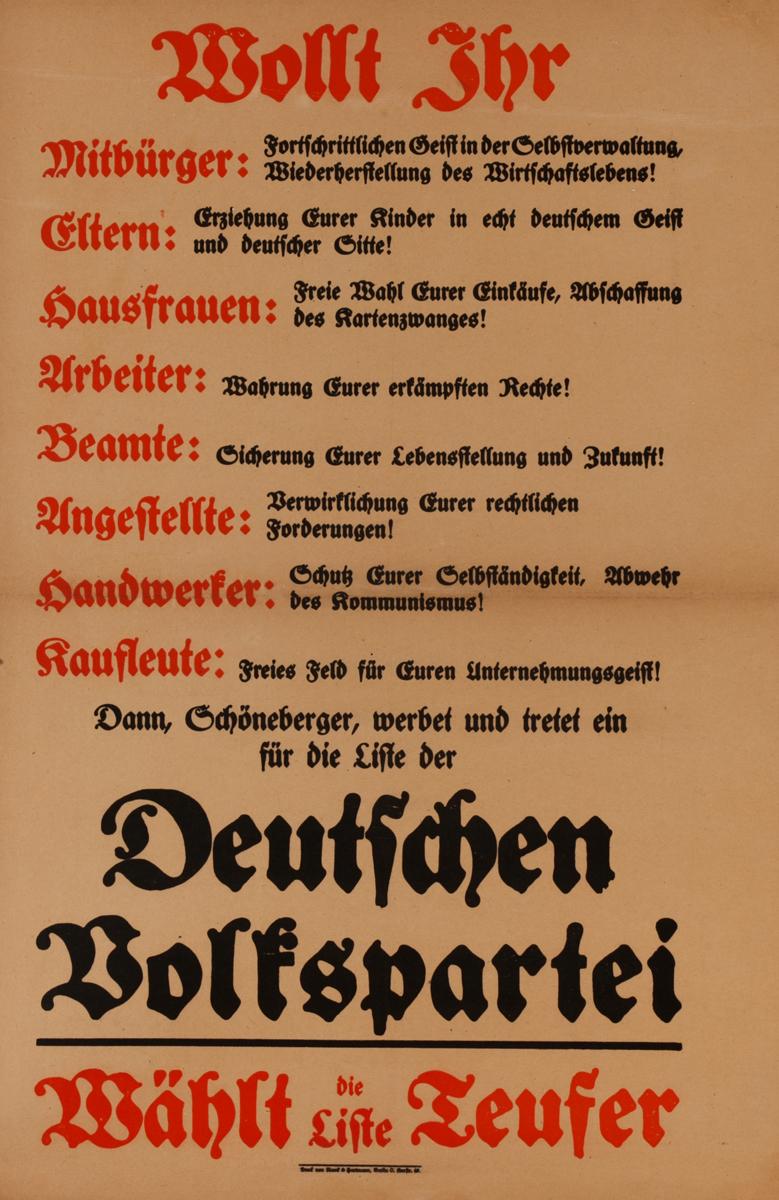 Wosst ihr - Do you Know?<br><br>German World War I Poster