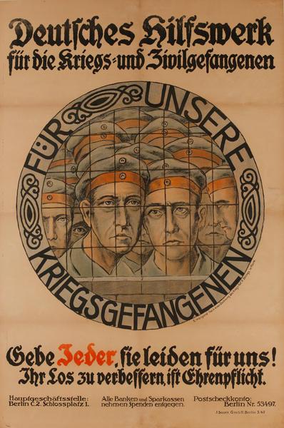 Fur Unsere Kriegsgefangenen <br>German World War I Poster