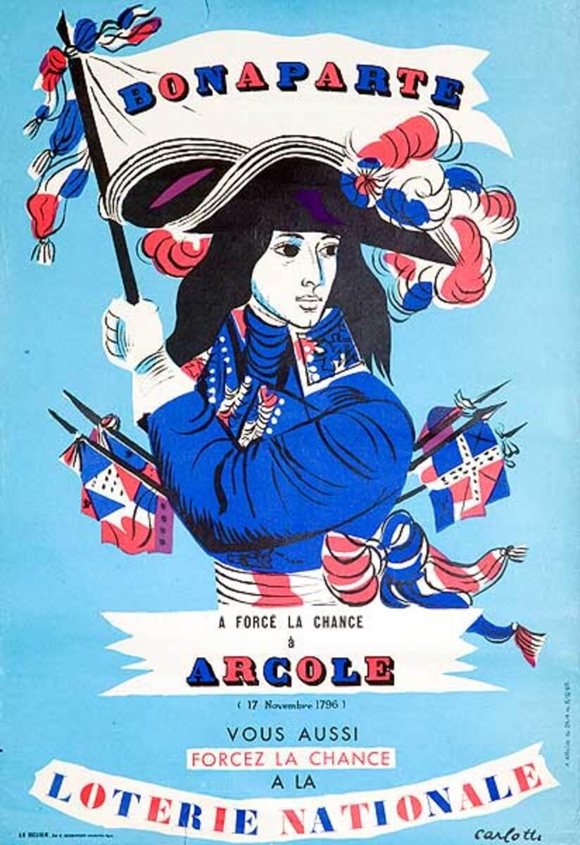 Bonaparte Arcole Original French Loterie Poster