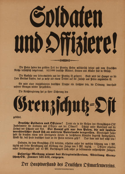 Soldaten und Offiziere - Soldiers and Officers<br>German WWI Poster