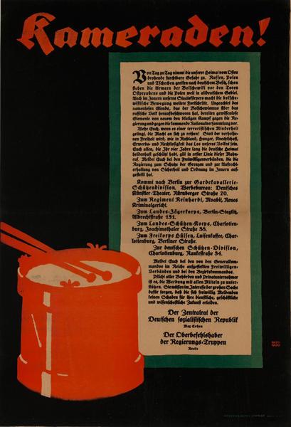 Kameraden<br>German World War I Poster