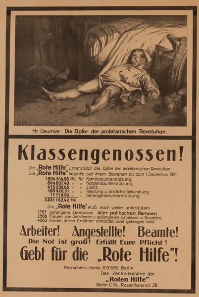 Klassengenossen!<br>German World War I Poster