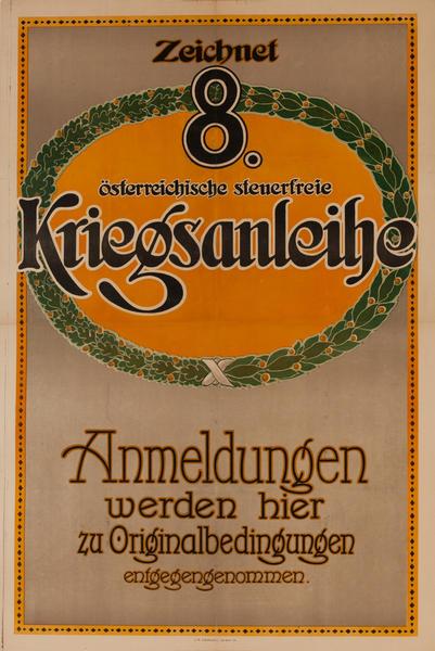Zeichnet 8 Kriegsanleihe<br>German World War I Poster