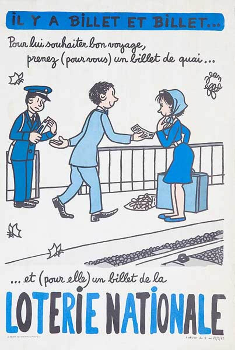 Wish Him Goodbye Original French Loterie Poster