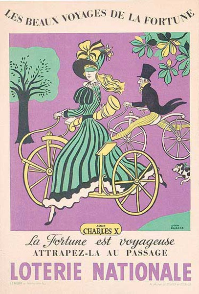 French Loterie Nationale Original Vintage Poster Charles X