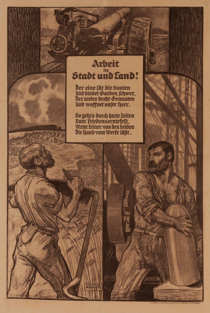 Arbeit in Stadt und Land<br>German World War I Poster