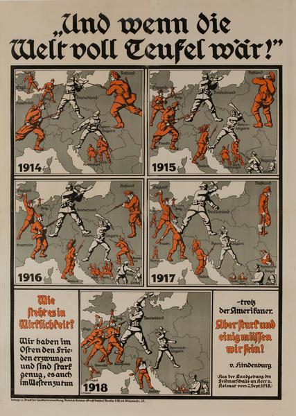 Und wenn die Welt voll Teufel wär<br>German World War I Poster