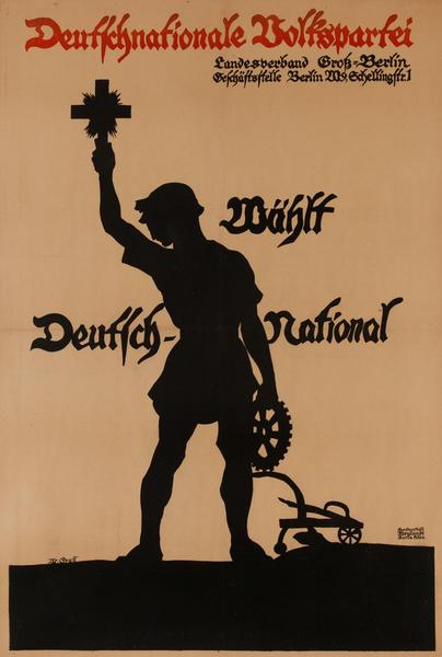 Wählt Deutschnationale Volkspartei <br>German World War I Poster