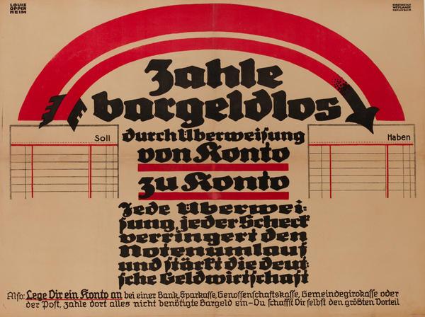 Zahle bargeldlos<br>German World War I Poster