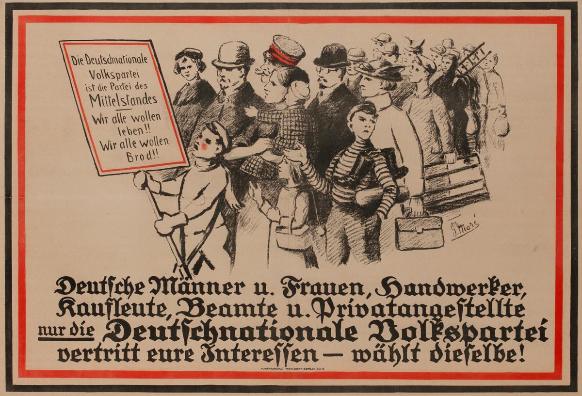 Deutsche Männer u. Frauen<br>German World War I Poster