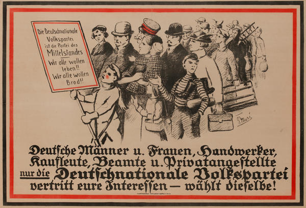 Deutsche Männer u. Frauen<br>German World War I Poster