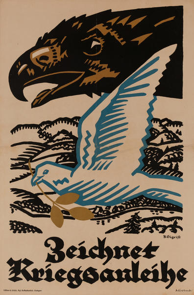 Zeichnet Kriegsanleihe<br>German World War I Poster