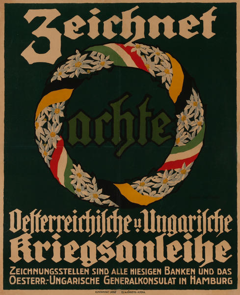 Zeichnet arhte<br>German World War I Poster