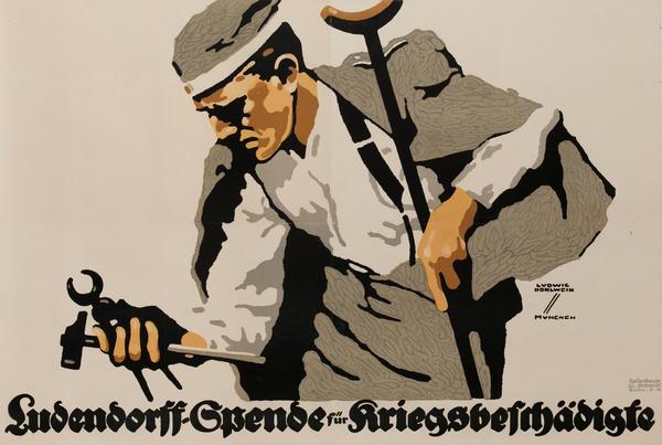 Ludendorff-Spende für Kriegsbeschädigte<br>German WWI Poster