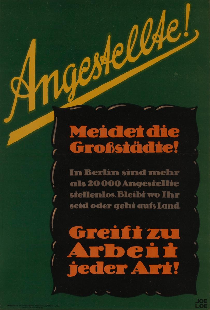 Angestellae!<br>German World War I Poster