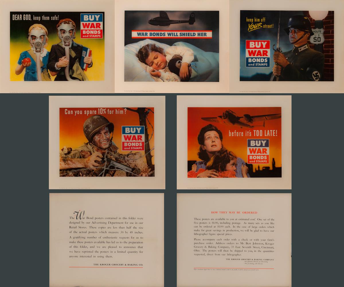 Kroger WWI Homefront Posters COMPLETE SET