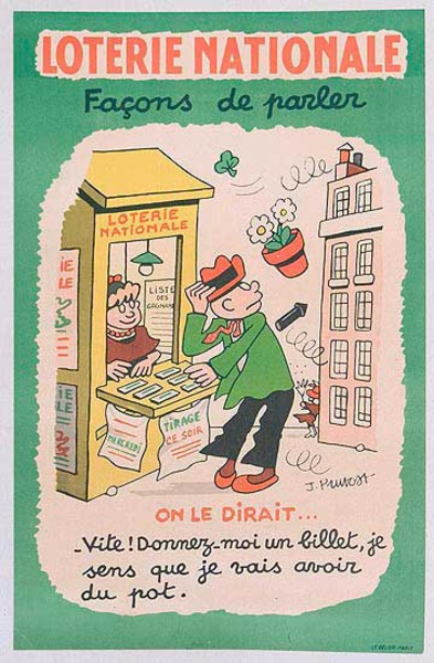 French Loterie Nationale Original Vintage Poster Facon