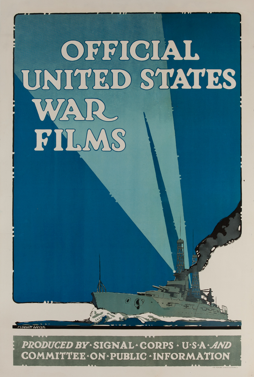 Official United States War Films- World War One Poster