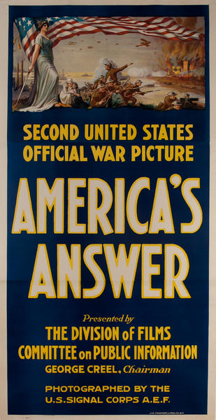 Second United States Official War Picture, Americas Answer