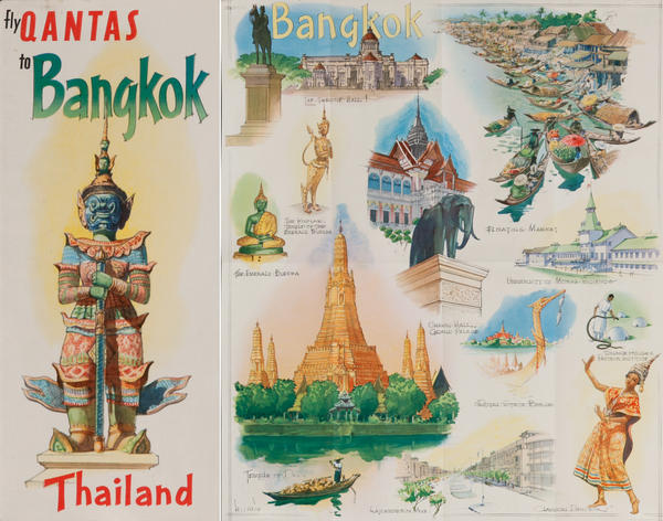 Fly Qantas to Bangkok<br>Qantas Travel Brochure
