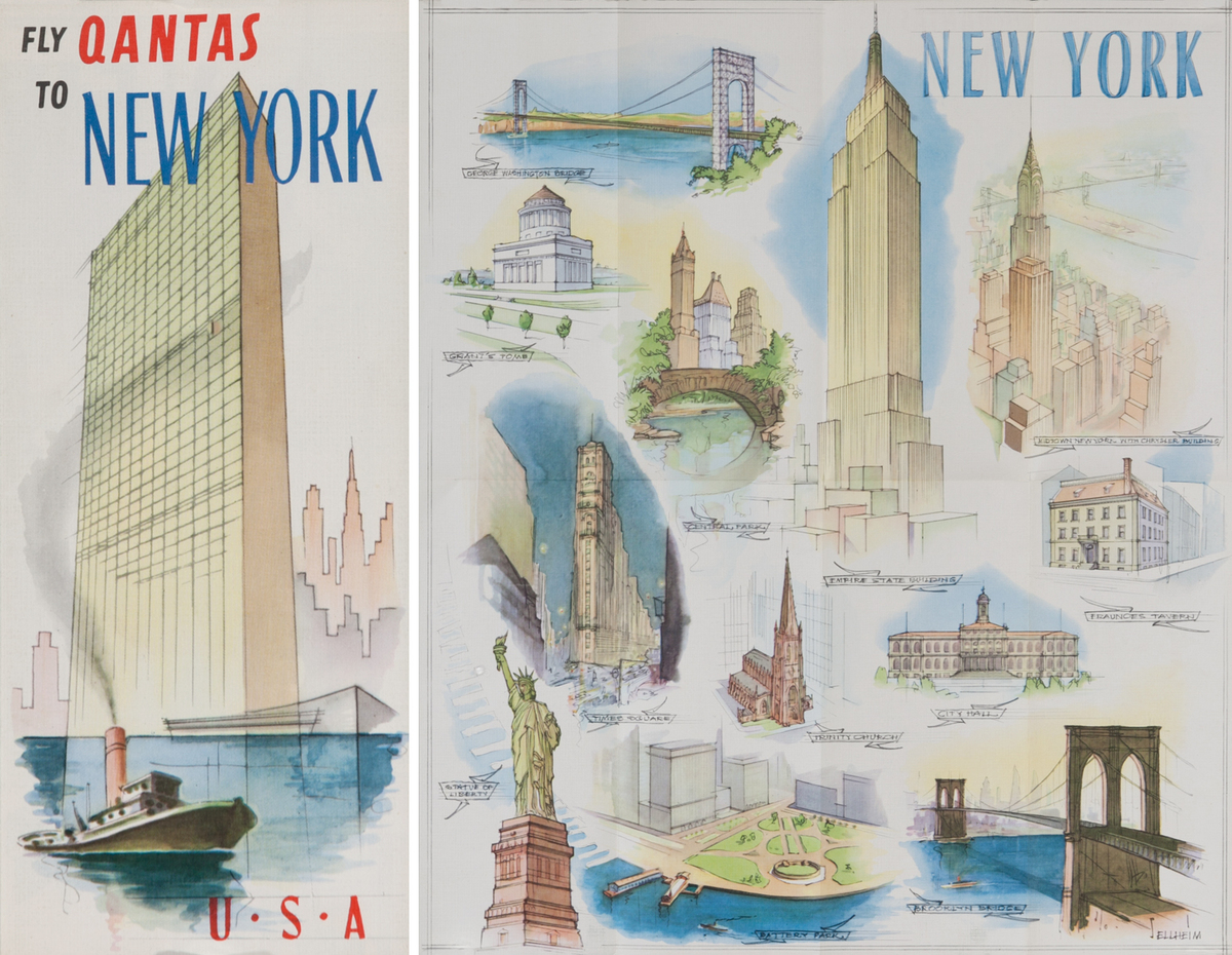 Fly Qantas to New York<br>Qantas Travel Brochure