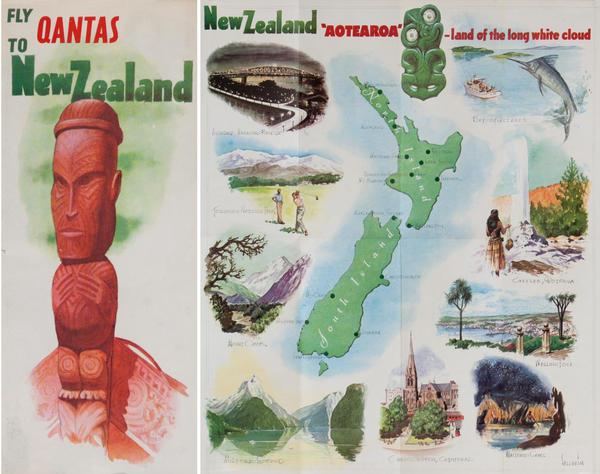 Fly Qantas to New Zealand<br>Qantas Travel Brochure