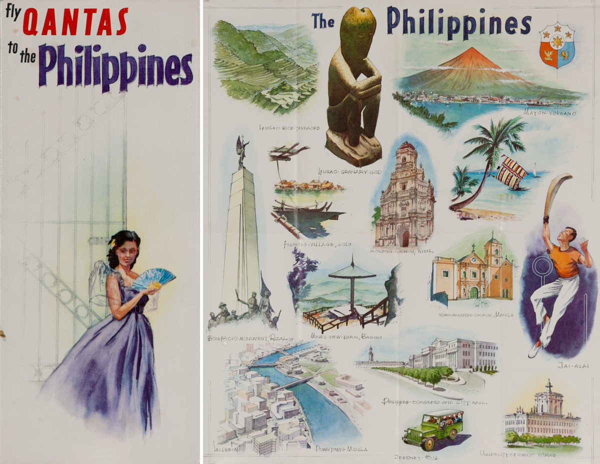 Fly Qantas to the Philippines<br>Qantas Travel Brochure