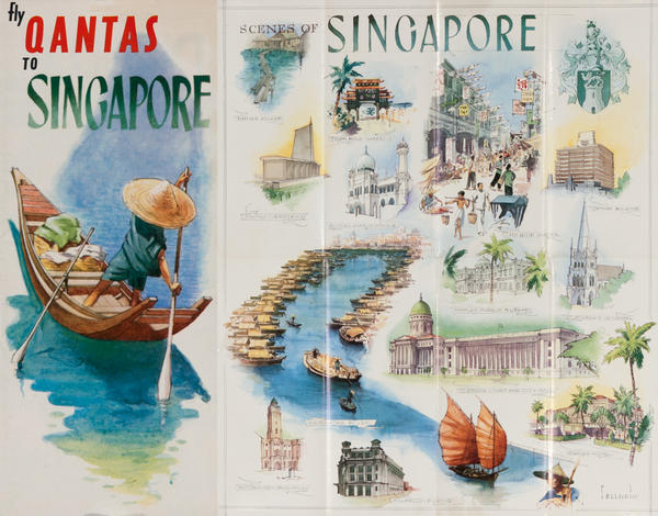 Fly Qantas to Singapore<br>Qantas Travel Brochure