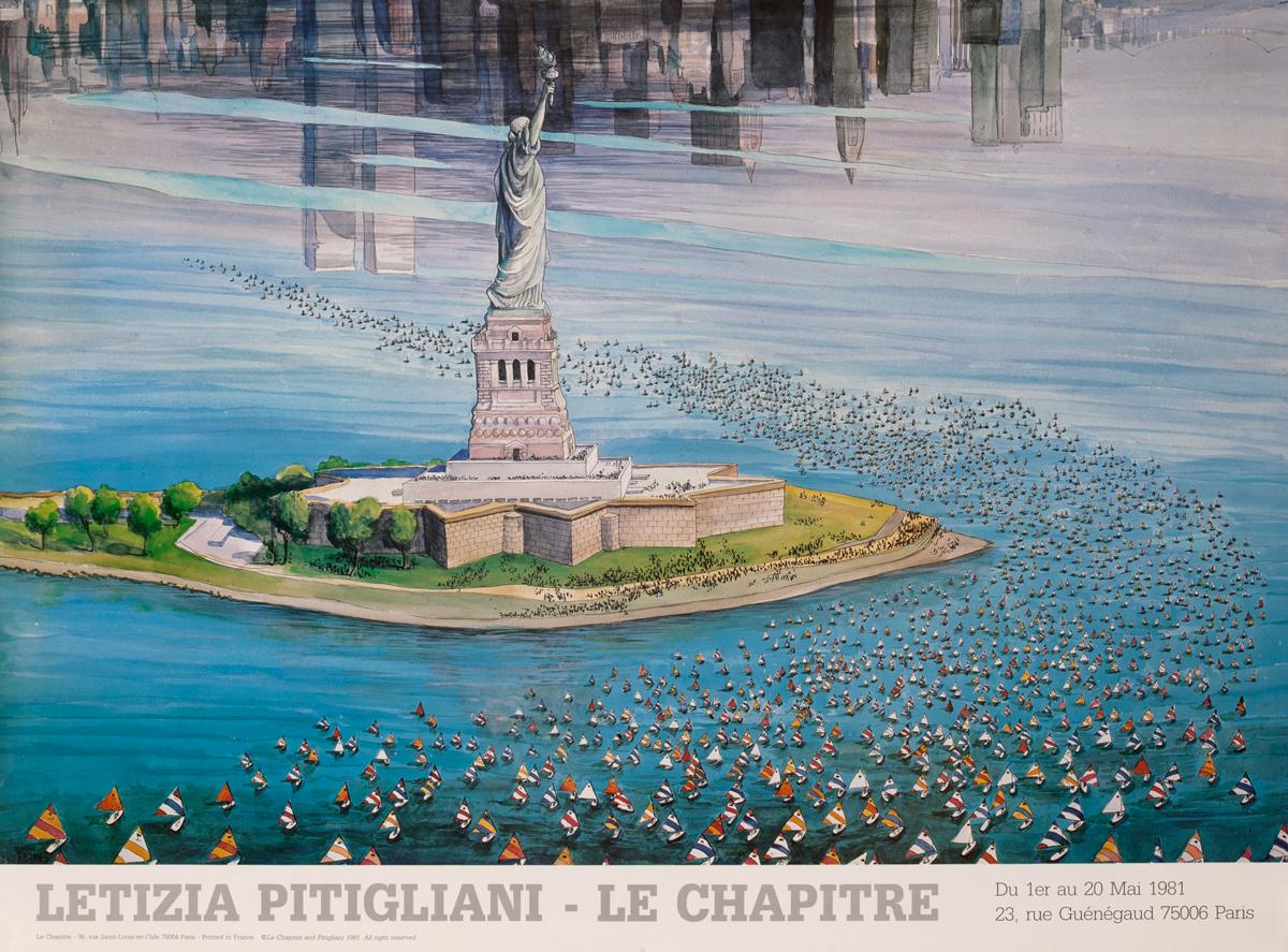 Letizia Pitigliani - Le Chapitre <br>Statue of Liberty Poster