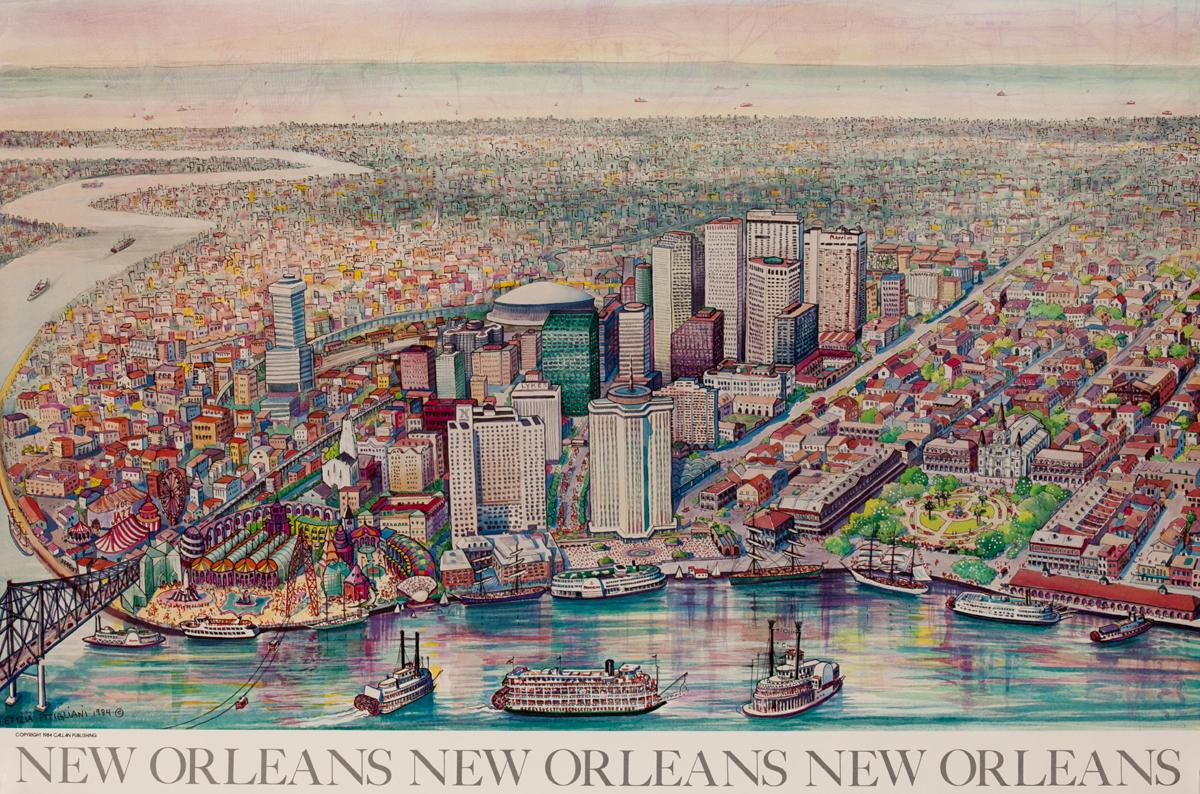 New Orleans New Orleans New Orleans Art Poster