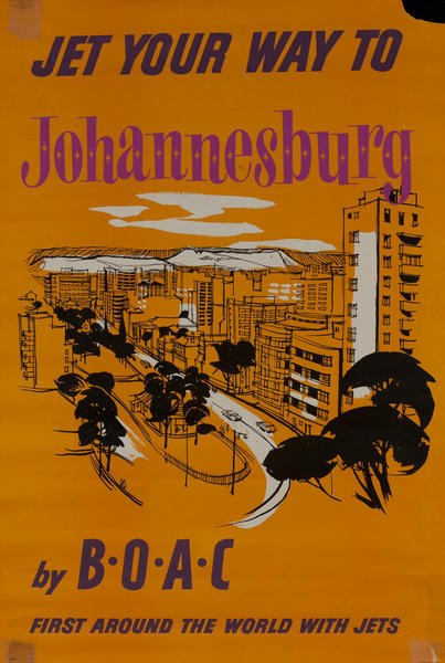 Jet Your Way to Johannesburg<br> BOAC Travel Poster