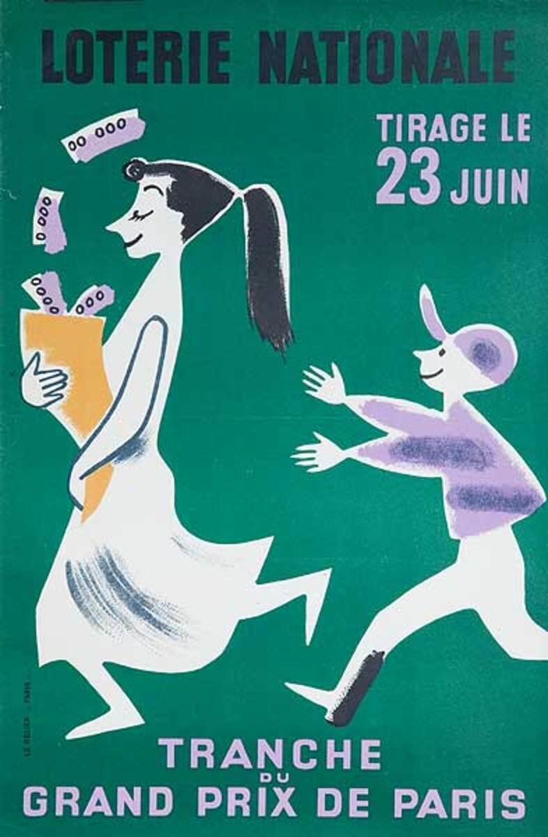 Grand Prix Du Paris Original French Loterie Poster