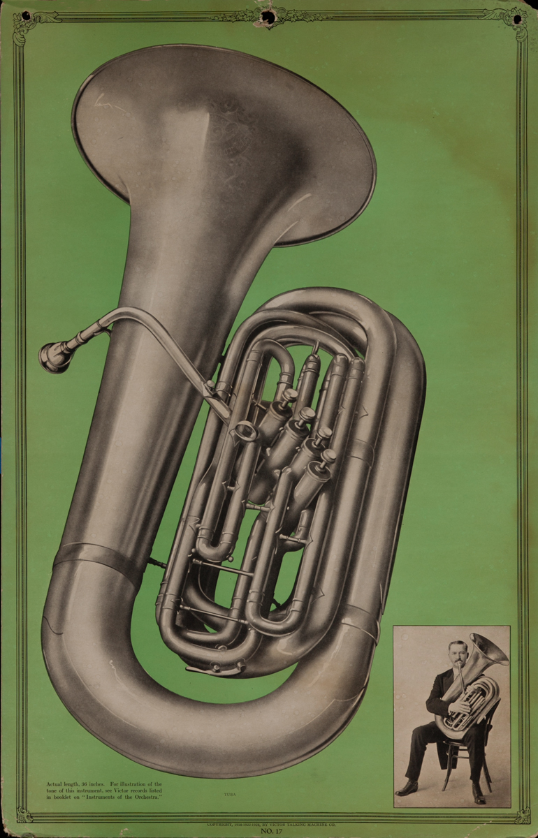 Victor Talking Machine Company Advertising Poster<br>No. 17 Tuba