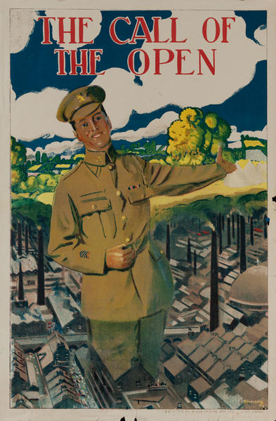 The Call of the Open<br>British post-WWI Recruiting Poster