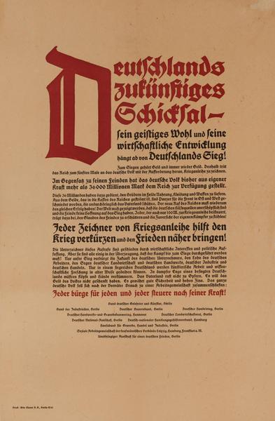 Deutschlands Zukünftiges Schicksal<br>German post-WWI Political Poster